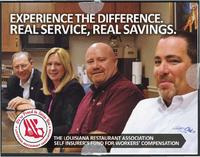 Louisiana Restaurant Assosciation worker's compensation insurance advertisement