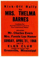 Kick-Off Rally for Mrs. Thelma Barnes