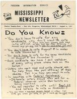 Mississippi Newsletter No. 24