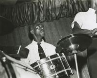 Jacques Pierre on drums at the El Morocco Club