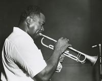 Herb Morand playing with the Albert Burbank band
