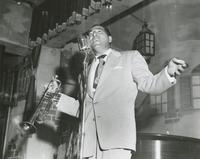 Leon Prima singing at his club