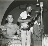 Blanche Thomas and Manuel Sayles on Bourbon Street