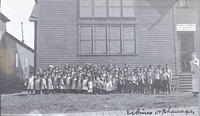 Children in Front of an Eskimo orphanage