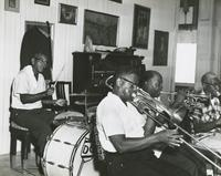 Kid Howard Band at a recording session for Icon LP4