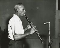 Albert Burbank playing clarinet