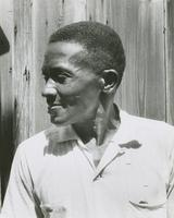Leroy Thompson outside his home
