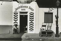 Exterior of Jake's Barber Shop