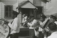 Eureka Brass Band at an Algiers funeral