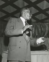 George Lewis at a nightclub gig