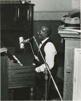 Joe James at a recording session
