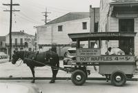 Hot waffle wagon parked on the street