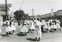 Women in line in Sunday school parade