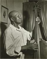 Albert Glenny playing his double bass