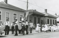 Doc Paulin's Brass Band at a Sunday school parade