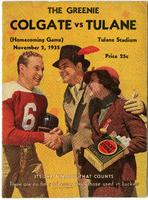 Tulane University Football Program-The Greenie; Colgate vs Tulane