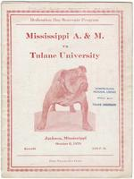 Mississippi A.&M. Football Program; Mississippi A.&M. vs. Tulane University