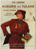 Tulane University Football Program-The Greenie; Auburn vs. Tulane
