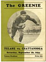 Tulane University Football Program-The Greenie; Tulane vs. Chattanooga
