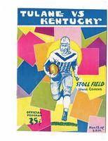 University of Kentucky Official Football Program; Tulane vs. Kentucky