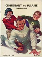 Tulane University Football Program-The Greenie; Centenary vs. Tulane