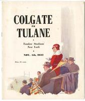 Colgate University Football Program; Colgate vs. Tulane