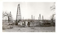 A few oil wells operating in Jennings field