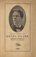 Platform of Henry Pharr page 1