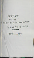 Charity Hospital Report 1850