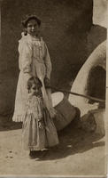 Unidentified woman and girl