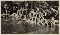 Asheville Boy Scouts in camp swimming pool