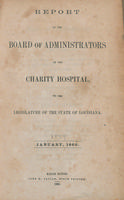 Charity Hospital Report 1859