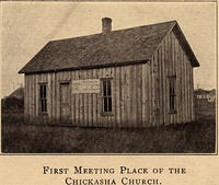 First meeting place of the Chickasha church