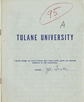 Tulane University exam book