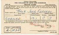 College of Arts and Sciences Grade Card