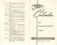 Calendar for Commencement, 1958