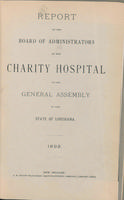 Charity Hospital Report 1892