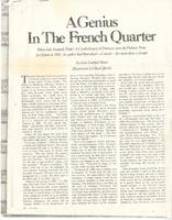Article:  A Genius in the French Quarter