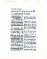 Article:  Genial Eccentricity:  Lunacy, Farce Abound in Sardonic Novel