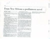 Article:  From New Orleans, A Postumous Novel
