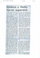 Article:  Ignatius J. Reilly, heroic superslob