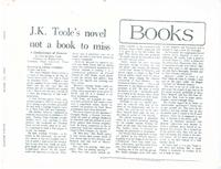 Article:  J.K. Toole's novel not a book to miss