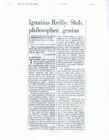 Article:  Ignatius Reilly: Slob, philosopher, genius