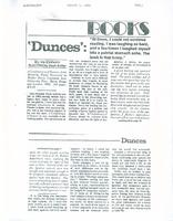 Article: Dunces