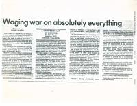 Article: Waging a War on abolutely everything