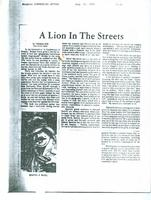 Article: A Lion In The Streets