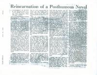 Article: Reincarnation of a Posthumous Novel