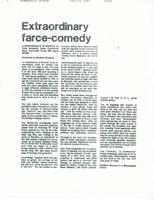 Article: Extraordinary farce-comedy