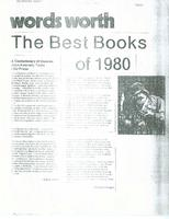 Article: Words Worth, The Best Books of 1980