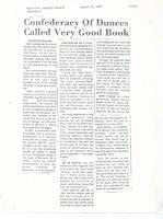 Article: Confederacy Of Dunces Called Very Good Book
